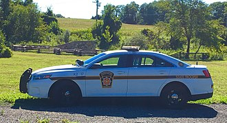 Pennsylvania State Police - Image: White PA State Police Taurus