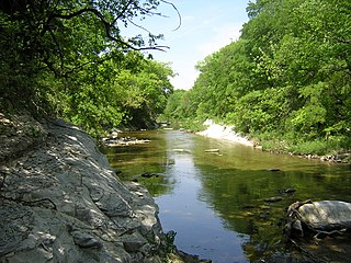 White Rock Creek river in United States of America