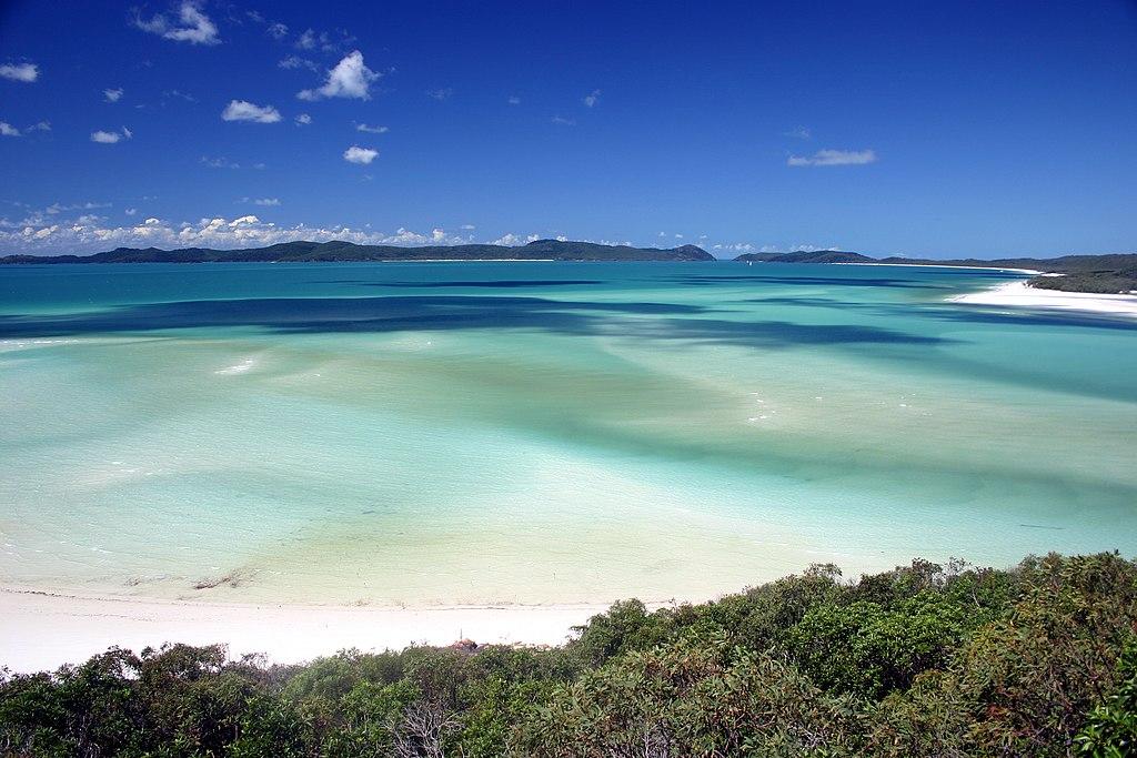 Pláž Whitehaven Beach, Austrália