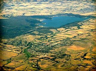 Yan Yean Reservoir lake in Australia