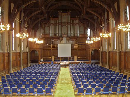 The inside of Whitworth Hall Whitworth Hall inside.jpg