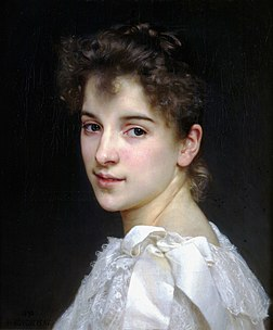 Portrait de Gabrielle Cot, fille de Pierre Auguste Cot, par William Bouguereau (1890). (définition réelle 1 908 × 2 304)