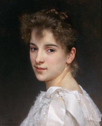 Pierre Auguste Cot - Bouguereau's Gabrielle Cot, a portrait of Cot's daughter