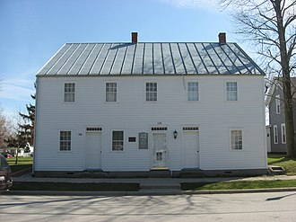 New Bremen, Ohio - The William Luelleman House, a historic house along the canal