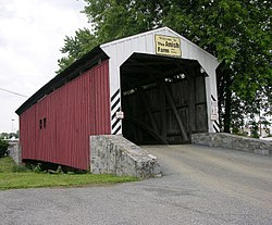 Willow Hill Covered Bridge in East Lampeter Township