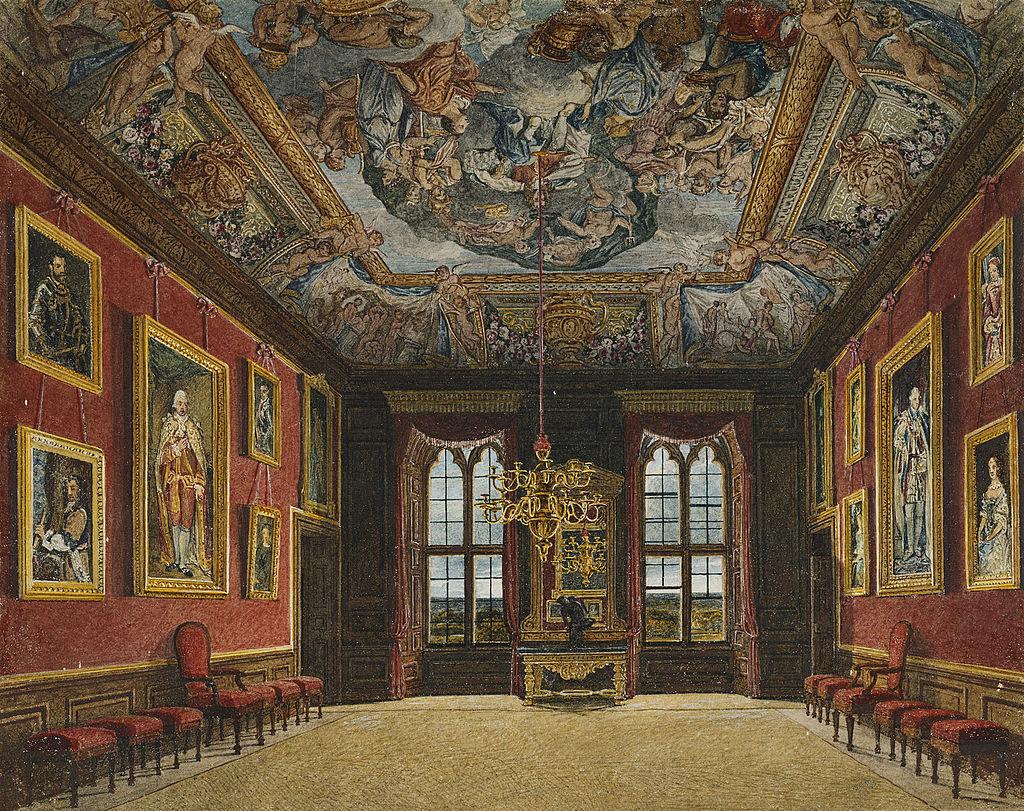 Виндзорский замок, Королевская старая государственная опочивальня, Чарльз Уайлд, 1816 - royal coll 922106 313687 ORI 2.jpg