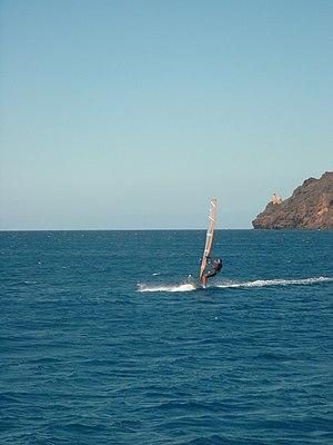 Windsurfen bei São Pedro auf São Vicente
