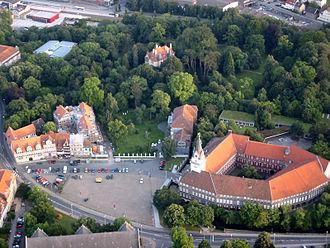 Schloss Wolfenbüttel - Aerial view of the Schloss