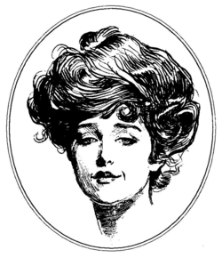Woman illustration by Charles Dana Gibson