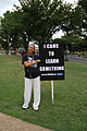 Woman marcher and sign - I came to learn something - 50th Anniversary of the March on Washington for Jobs and Freedom.jpg