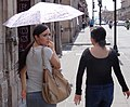 Women Walking in Street - Morelia - Michoacan - Mexico (20479106301).jpg
