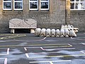 Wooden playground objects, Allendale School - geograph.org.uk - 1098629.jpg