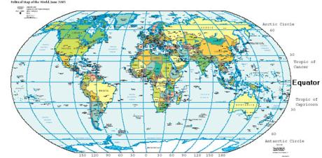 weltkarte mit äquator Weltkarte Mit äquator | jooptimmer weltkarte mit äquator