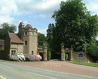 Worth School - The school's entrance through Paddockhurst Road.