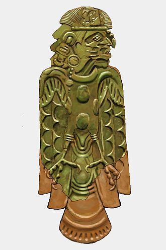 Wulfing cache - Malden Plate A, depicting a human headed avian deity