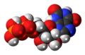 Xanthosine diphosphate molecule spacefill.png