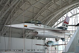 General Dynamics F-16 Fighting Falcon - YF-16 on display at the Virginia Air and Space Center