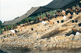 Yarmukian culture - Image: Yarmukian Culture Sha'ar Ha Golan, excavations 1998