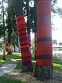 Yarn bombing in Anderson Park in Redmond WA, USA in July 2012.jpg