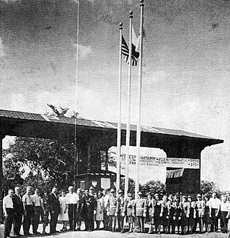 Polish National Alliance - The Opening Ceremony of the Polish National Alliance Youth Camp in Yorkville, IL, July 4, 1937.