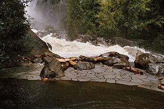 Yosemite Creek - Yosemite Creek flooding its channel in Yosemite Valley (2005).