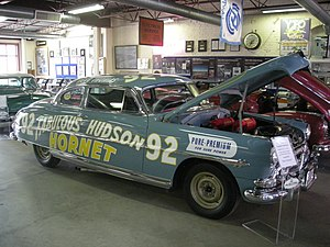 Fabulous Hudson Hornet - 1952 Hudson Hornet stock car at the Ypsilanti Automotive Heritage Museum