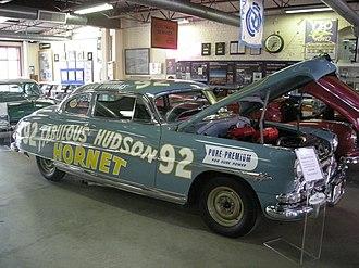 Fabulous Hudson Hornet - 1952 Hudson Hornet stock car at the Ypsilanti Automotive Heritage Museum