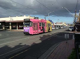 Z3 209 in Union Rd or route 57, 2004 (tram).jpg