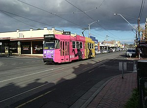 Ascot Vale, Victoria - Tram in Union Road