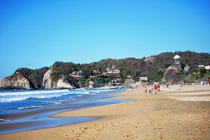 Economy of Oaxaca - View of Zipolite Beach