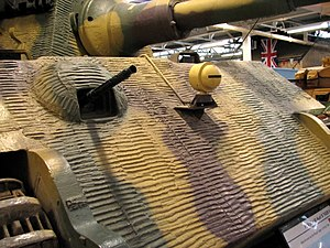 Zimmerit - Close view of Zimmerit on the glacis of a Tiger II