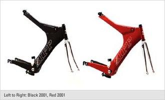 Zipp 2001 - Zipp Frames in red and black