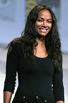 Zoe Saldana - the hot, beautiful,  actress  with Dominican, Haitian, Lebanese, Puerto Rican,  roots in 2018