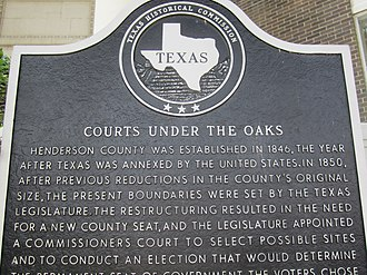 "Henderson County, Texas - ""Courts Under the Oaks"" in Athens"
