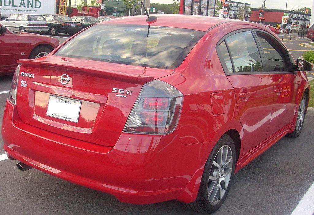 File 09 Nissan Sentra Se R Spec V Rear Jpg Wikimedia