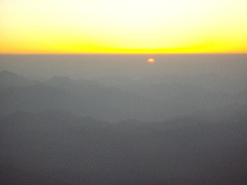 File:'SUNRISE' over Mt Sinai Mountains(Egypt).JPG