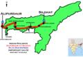(Alipurdaur - Silghat) Rajya Rani Express route map.png