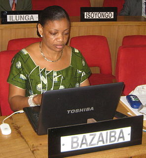 Ève Bazaiba Lawyer, politician and activist in the Democratic Republic of the Congo