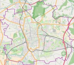 Mapa lokalizacyjna Łodzi