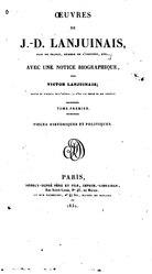 Œuvres de J. D. Lanjuinais: