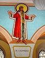 Św. Kazimierz, fresk autorstwa Jana Molgi (Aw58).JPG