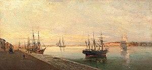 Κωνσταντίνος Βολανάκης - Το λιμάνι του Βόλου.jpg