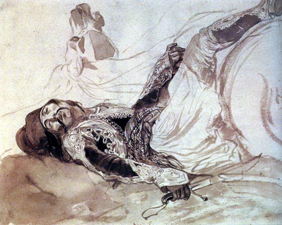 Брюллов Раненый грек, упавший с лошади