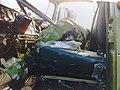 Вторая чеченская война, 2008. Водитель Урала погиб, бронежилеты на окнах плохая защита.jpg