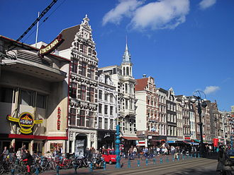 North Holland - The Damrak in Amsterdam