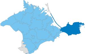 Lenine Raion - Image: Карта схема Крыма Ленинский район