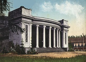 Malakhovka, Moscow Oblast - Pearl of country theatres of Russia, Malakhovsky Summer Theatre. Designed by the architect Leon Dauksha in the characteristic modernist style of the era. Built in 1911 on the initiative of F. Chaliapin. Burned in 1999 as a result of arson.