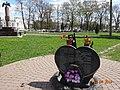 Памятник погибшим Вязмичам в военных конфликтах, в том числе Жерешникову в Вязьме.jpg