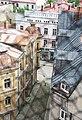 Цесис (Латвия) Городская улочка - panoramio.jpg