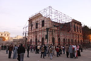 Institut d'Égypte - The institute building during renovations.